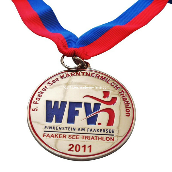 Custom High Quality Metal Medal Medallion with Ribbon (Md002)