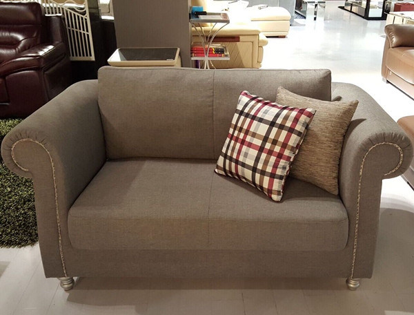 Modern 2 Seater Fabric Sofa for Restaurant (FOH-CBCK69)