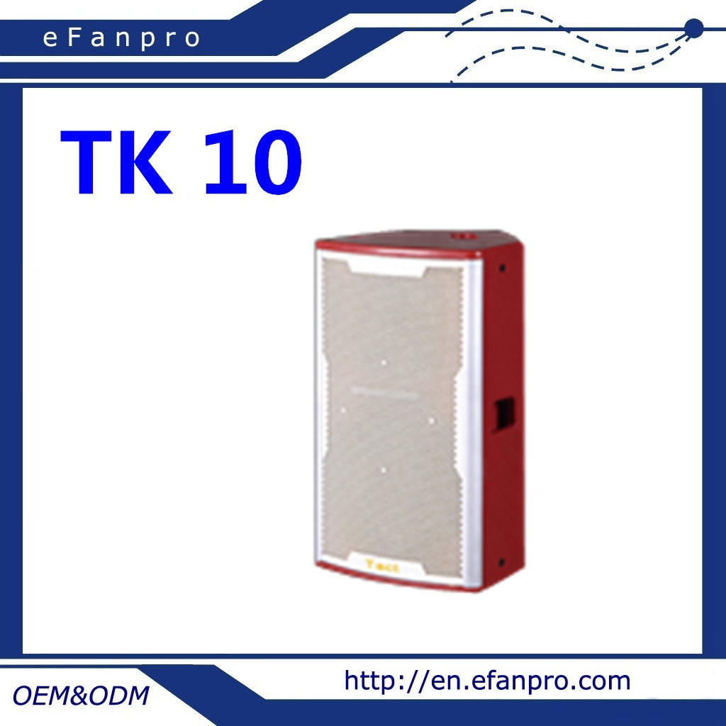 Attractive Design Single 10 Inch Audio Equipment (TK-10) Professional Karaoke Speaker