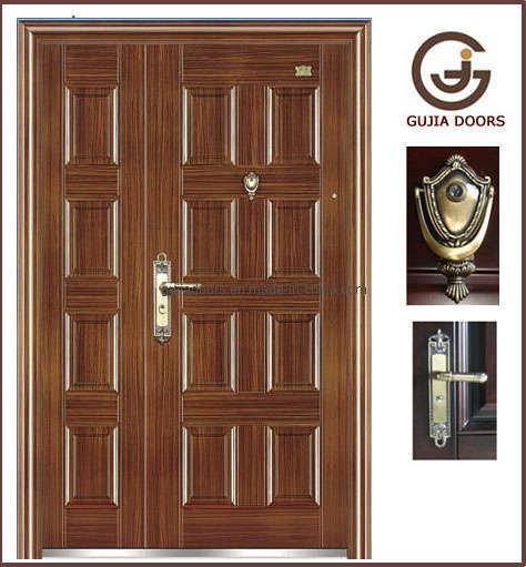 double door security steel door exterior doorzy sd008