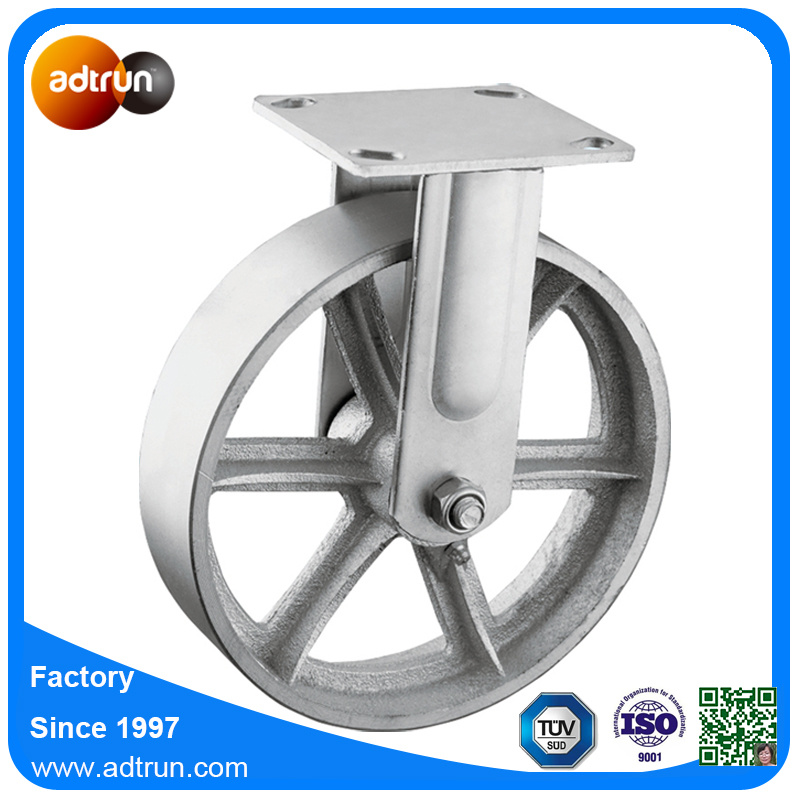 Heavy Duty Fixed Steel Casters Industrial Wheels with Roller Bearing