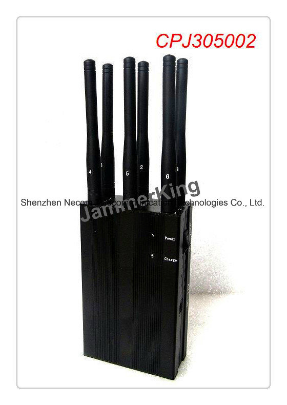 China 6 Antenna GPS, UHF, Lojack and Cell Phone Jammer (3G, GSM, CDMA, DCS) - China 6 Antenna Jammer, GPS Jammer