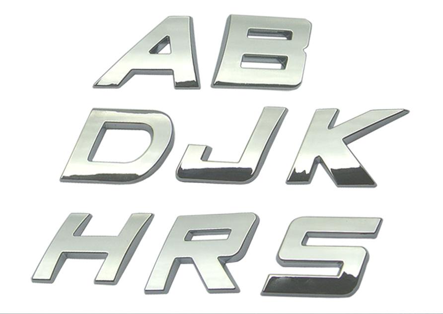 pin 3d chrome letters on pinterest With chrome automotive letters