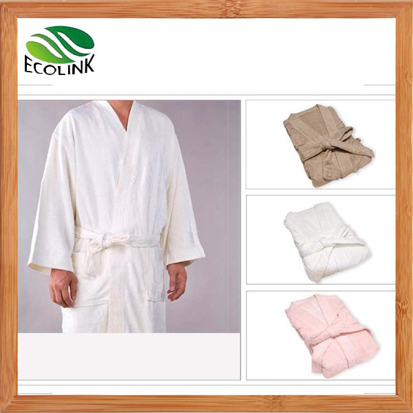 Luxury Bamboo Fibre Hotel Bath Robe for Adult