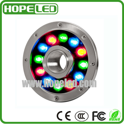 12W Color Changing LED Underwater Light for Fountain