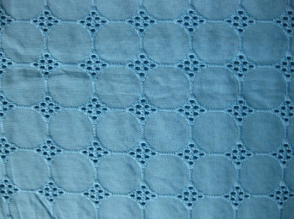 China eyelet embroidery fabric che
