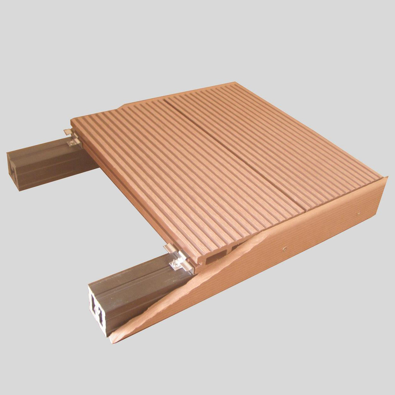 China outdoor waterproof wood plastic composite decking for Outside decking material