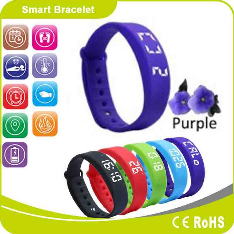 Sleep Monitor Pedometer Waterproof Calorie Distance Measurement Fitness Smart Wristband Watch