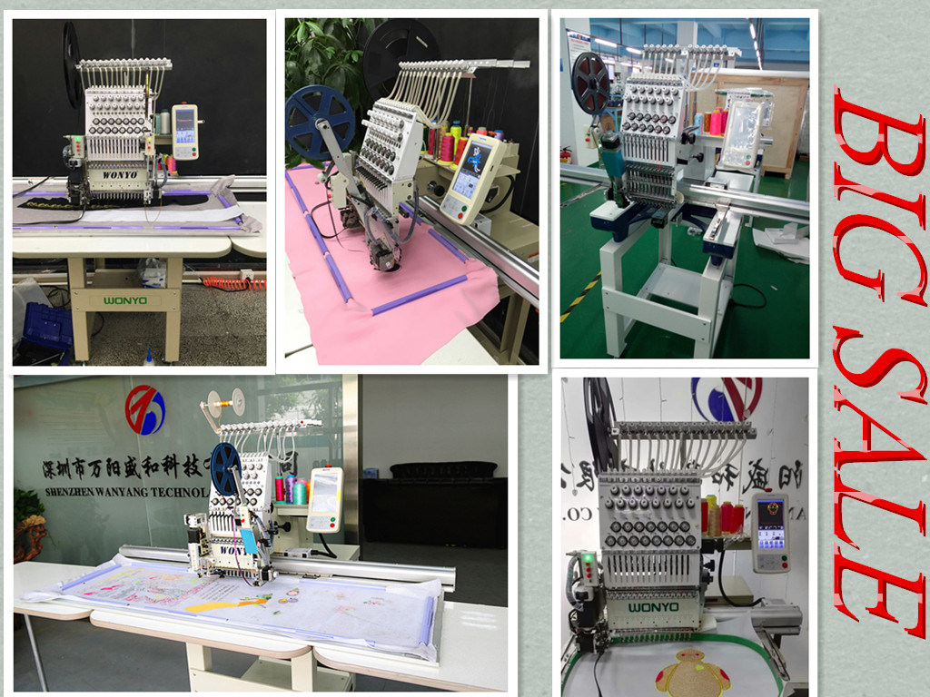 Single Head 15 Colors Sequin Embroiedry Sewing Machine