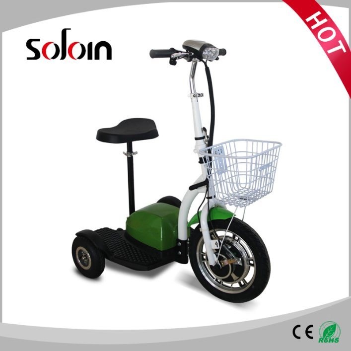 3 Wheel Foldable 350W Mobility Balance Electric Scooter for Disabled (SZE350S-3)