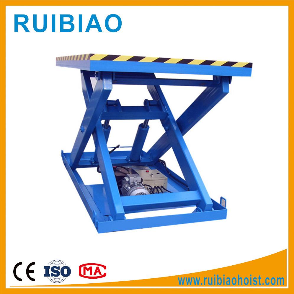 3ton Stationary Electric Hydraulic Work Platform Scissor Lift Table Ce