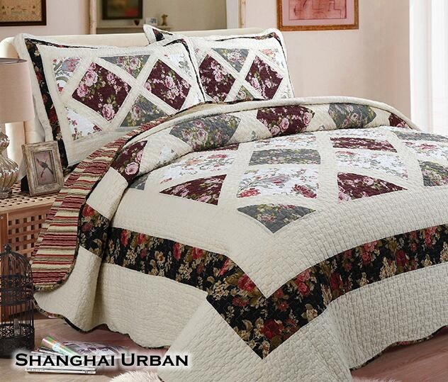 Modern Design Soft Hand Feel Cotton Bedspread Patchwork Quilt