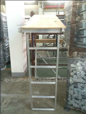 Aluminum Scaffolding Plywood Plank with Ladder and Trapdoor