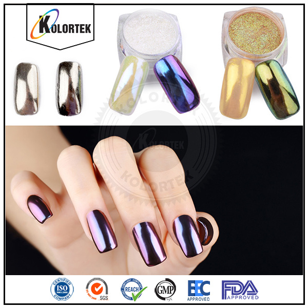 Chrome Mirror Pigment Nail Powder Sliver Pigment Supplier