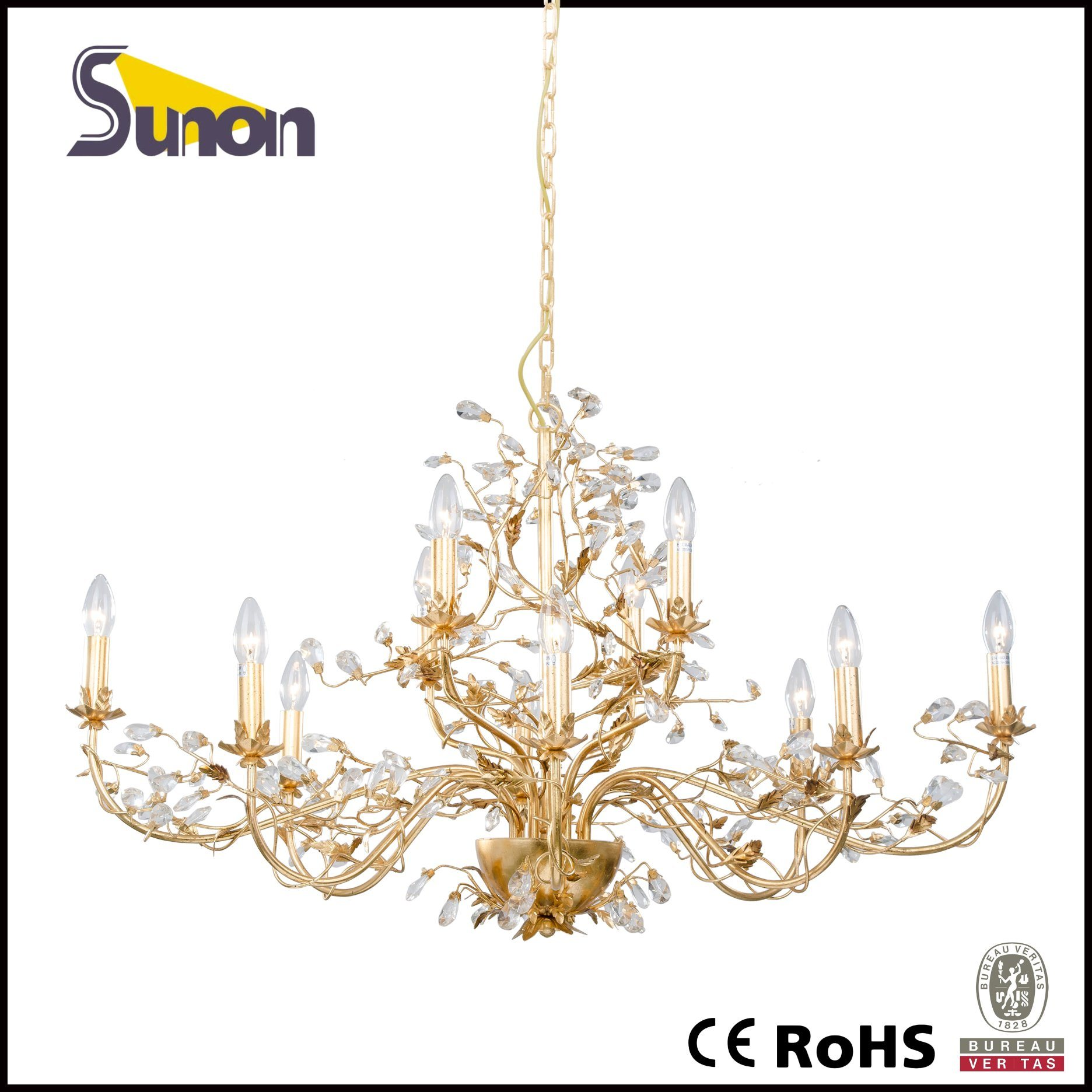 Made in China Antique Chandelier/ Gold Crystal Chandelier/Pendant Lighting