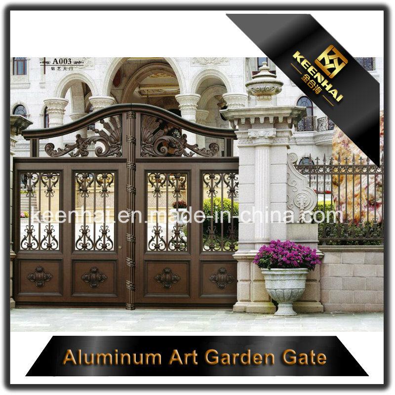 Decorative Color Power Coated Metal Aluminum Garden Gate