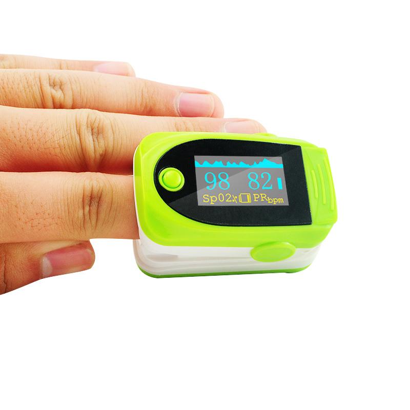 Portable Fingertip Finger Pulse Oximeter Oximetry Blue/White/Green/Orange/Rose Red SpO2 Sensor-Fanny