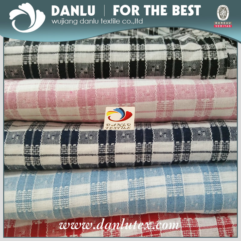 100% Cotton 21s Yarn Dyed Woven Ripstop Fabric for Shirt