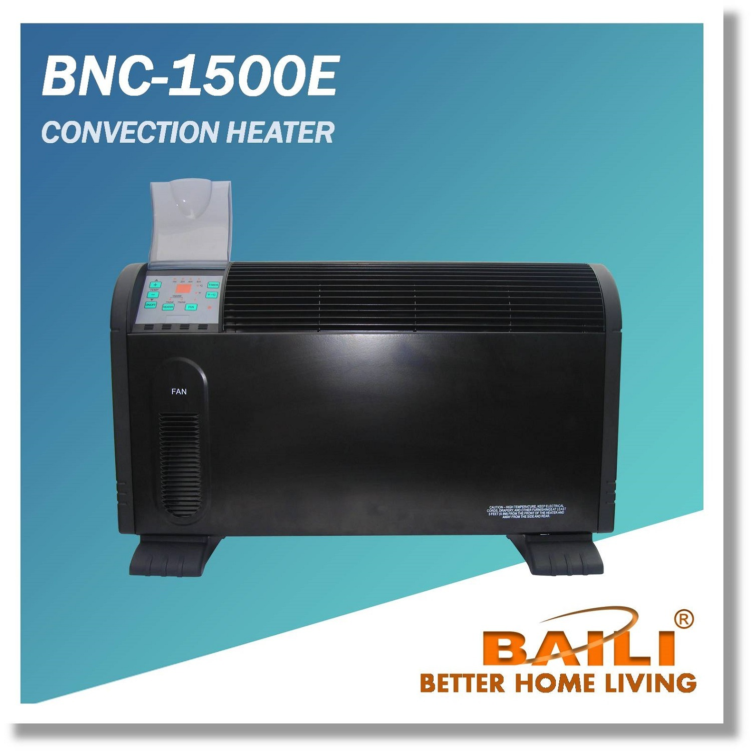 Convection Heater with Electronic Touch
