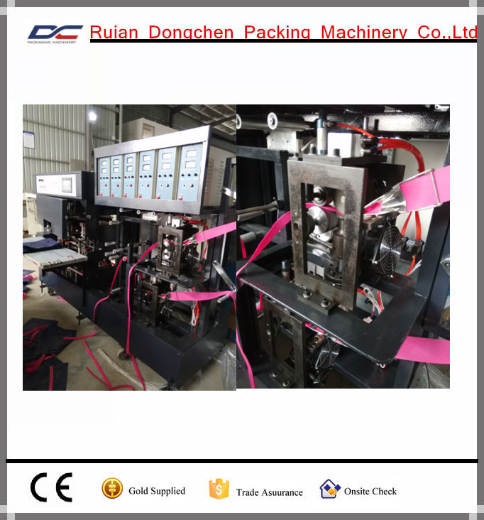 Automatic Soft Handle Strip Attaching Machine for Non Woven Bags (DC-T)