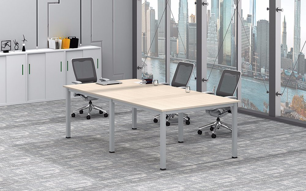 White Customized Metal Steel Office Conference Desk Frame with Ht25-501-3