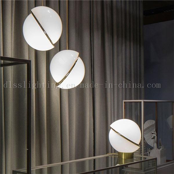 European Designer Acrylic Suspensive Pendant Lamps for Hotel Decorative Lighting