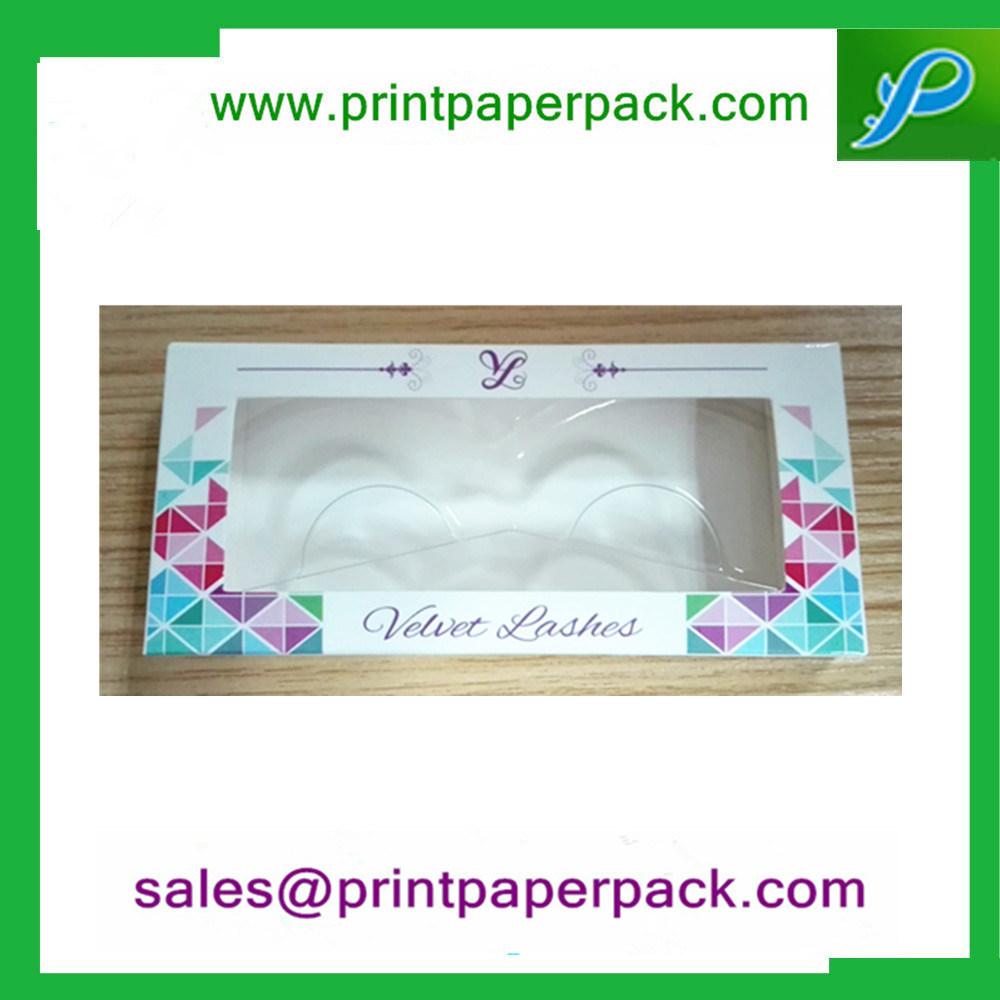 Customized Foldable Eyelash Paper Box Packing Box Jewelry Box Cosmetic Box with Window