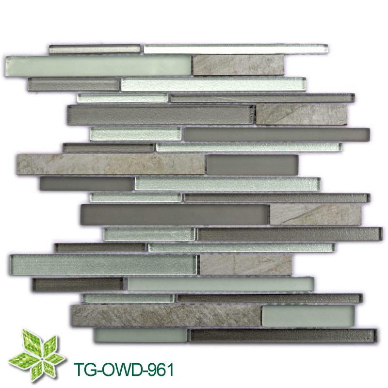 Dining Room Metallic Glass Mosaic (TG-OWD-961)