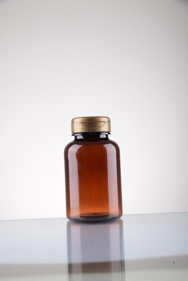 Aluminium Cap Pet Bottle for Medicine Capsule Plastic Packaging