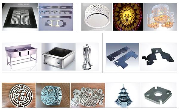 500 Watt CNC Fiber Laser Cutting Machine for Metals