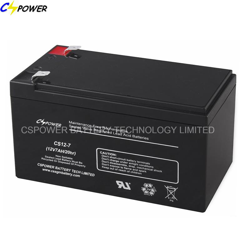 Cspower 12V 7ah Sealed Lead Acid Rechargeable Battery