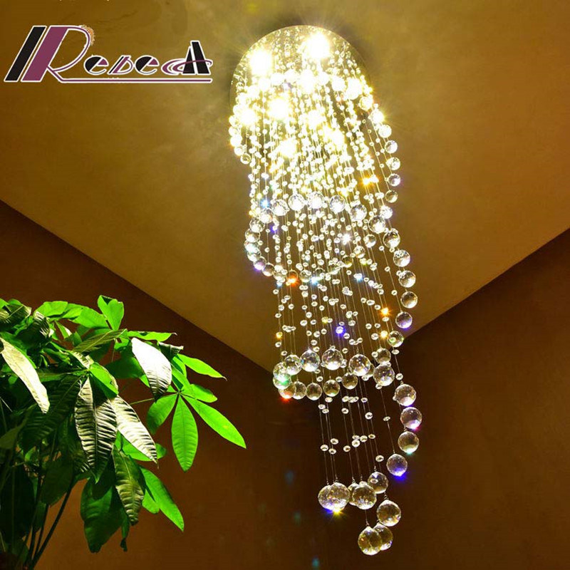 Conference Room Luxury Clear Crystal Lamp Hanging Ceiling Light