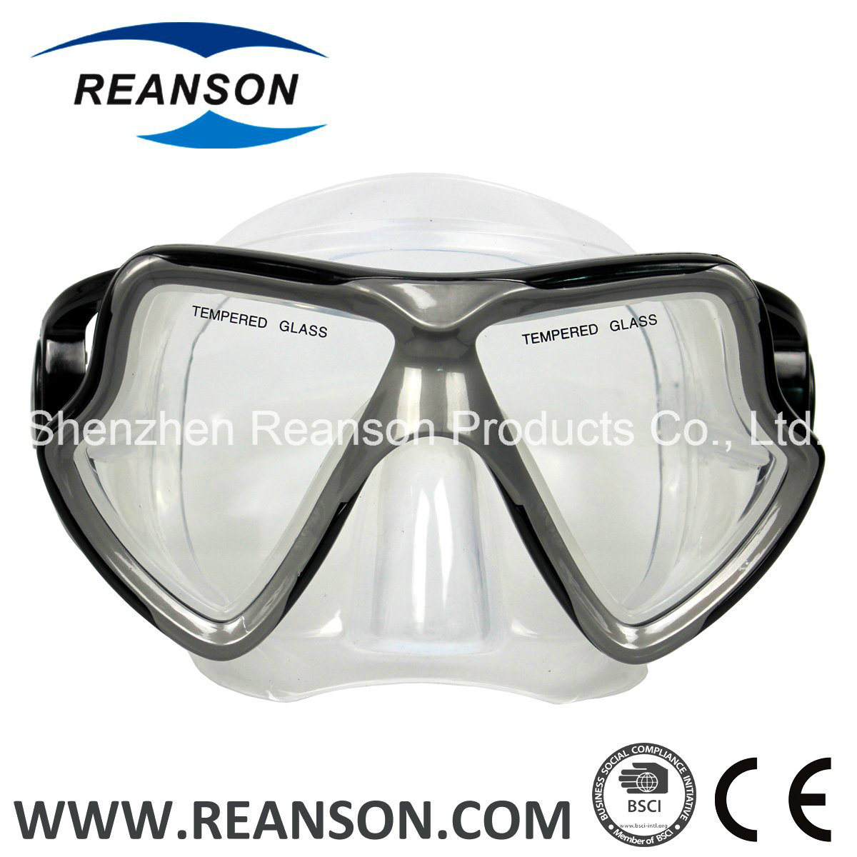 Reanson Professional Tempered Glass Snorkel Diving Mask