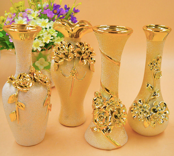 DIY European Fashion Ceramic Flower Vase Home Decoration Small Ceramic Vases