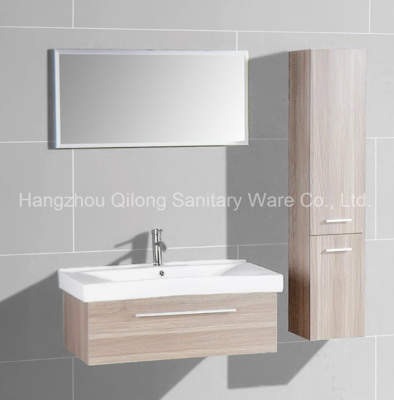 One Door with Zinc Alloy Handles Bathroom Cabinet in Melamine