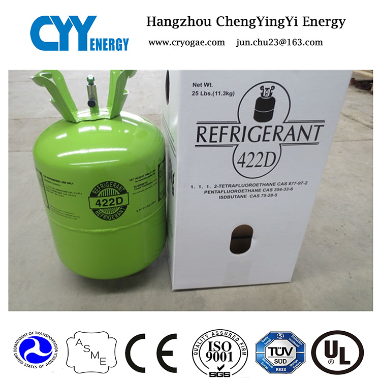 High Purity Mixed Refrigerant Gas of R422da (R134, R410A, R507)