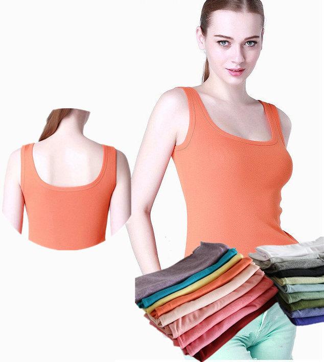 Lady Fashion Clothing Knit Sleeveless Summer Modal Tanktops