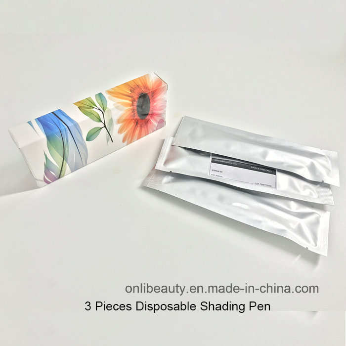 3 Pieces Sterilized Disposable Shading Pen Microblading Tools