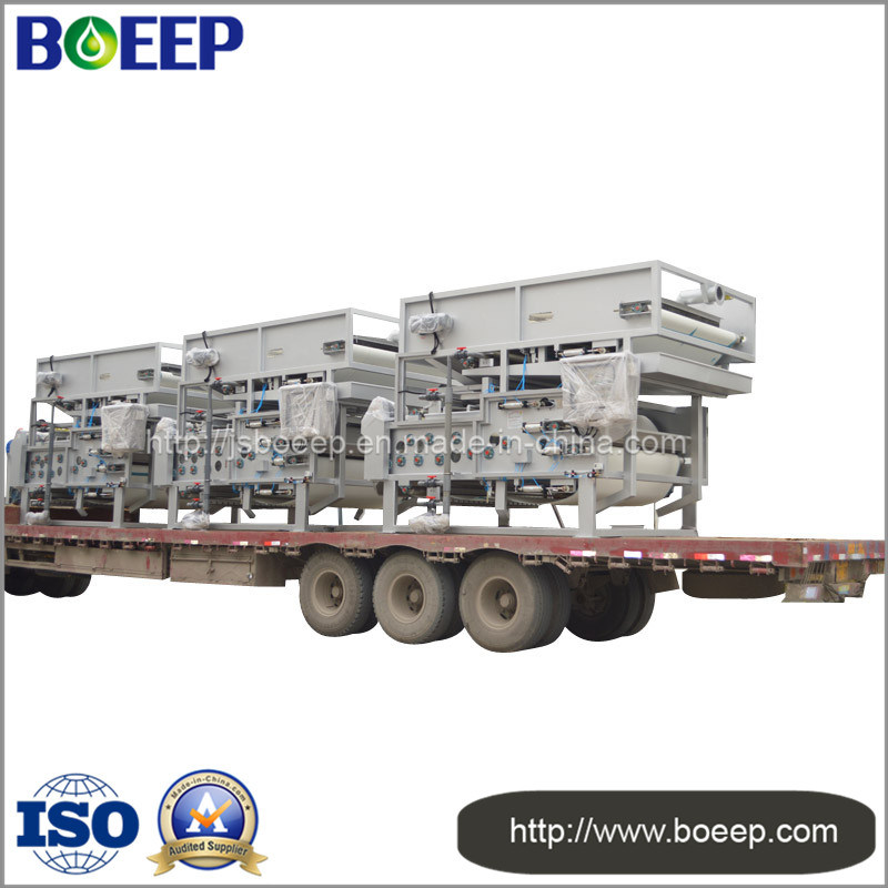 Food Processing Wastewater Treatment Belt Filter Press Sludge Dewatering Machine