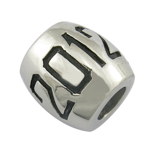Cheap Metal Custom Engraved Logo Bead
