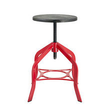 Swivel Wooden Seat Metal Industrial Bar Stools with Legs (FS-Scew14011-1)