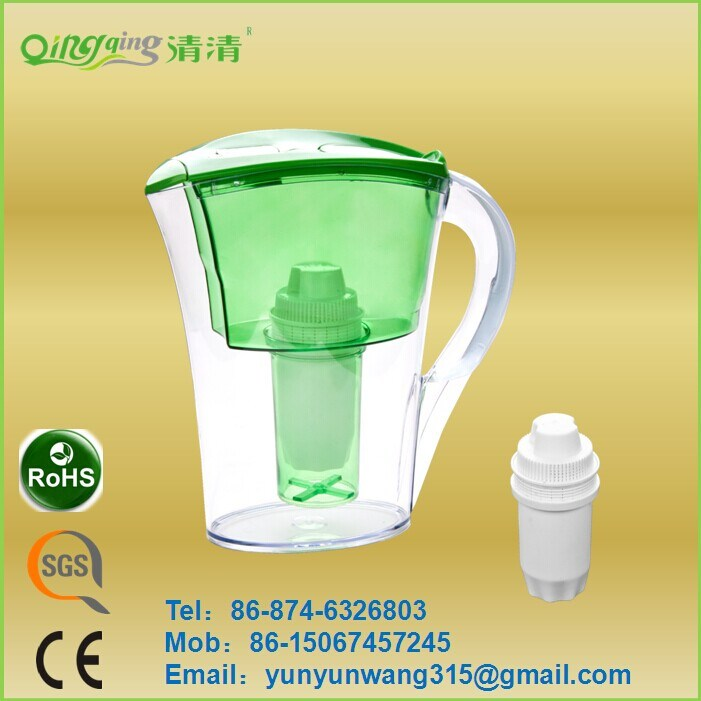 Daily Drinking Actived Carbon Plastic Alkaline Water Pitcher Filter
