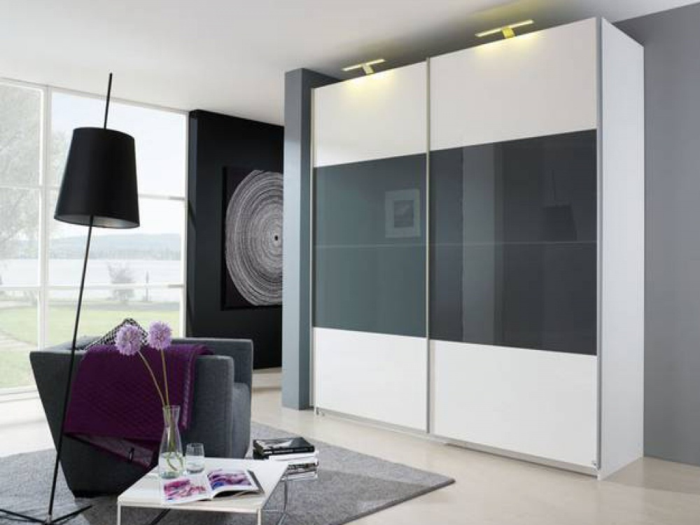 China bedroom furniture modern wardrobe with latest wardrobe door design photos pictures - Bedroom wall closet designs ...