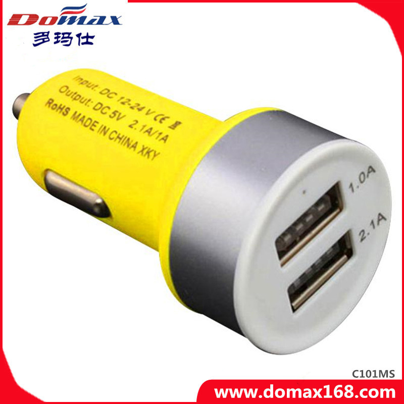 Mobile Phone Gadget 2 USB Adaptor Frosted Car Charger Dual