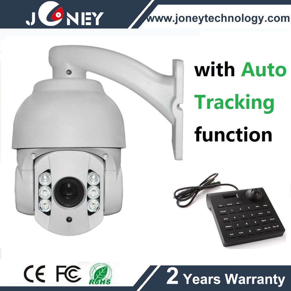 4 Inch Mini Analog 700tvl10X Zoom Security CCTV PTZ Camera with with Auto Tracking Function