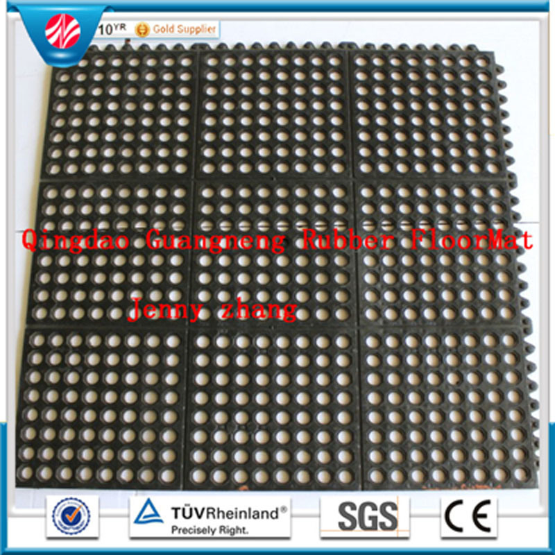 Anti-Bacteria Acid Resistant Hotel Rubber Floor Mat, Commercial Rubber Garage Tile