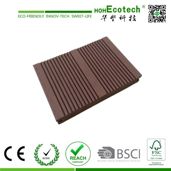 Outdoor Composite Decking Solid / WPC Crack-Resistant Decking /Good Price Wood Plastic Composite Decks