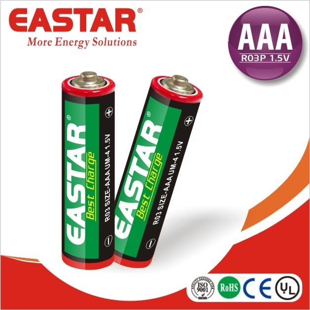 1.5V Um-3 AA R6 Battery Zinc Carbon Battery