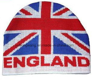 Chicago/England Knitted Jacquard Hat, Warm Beanie