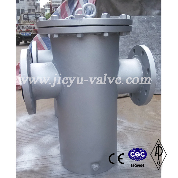 API DIN JIS Carbon Steel Wcb Basket Strainer with Flange Type